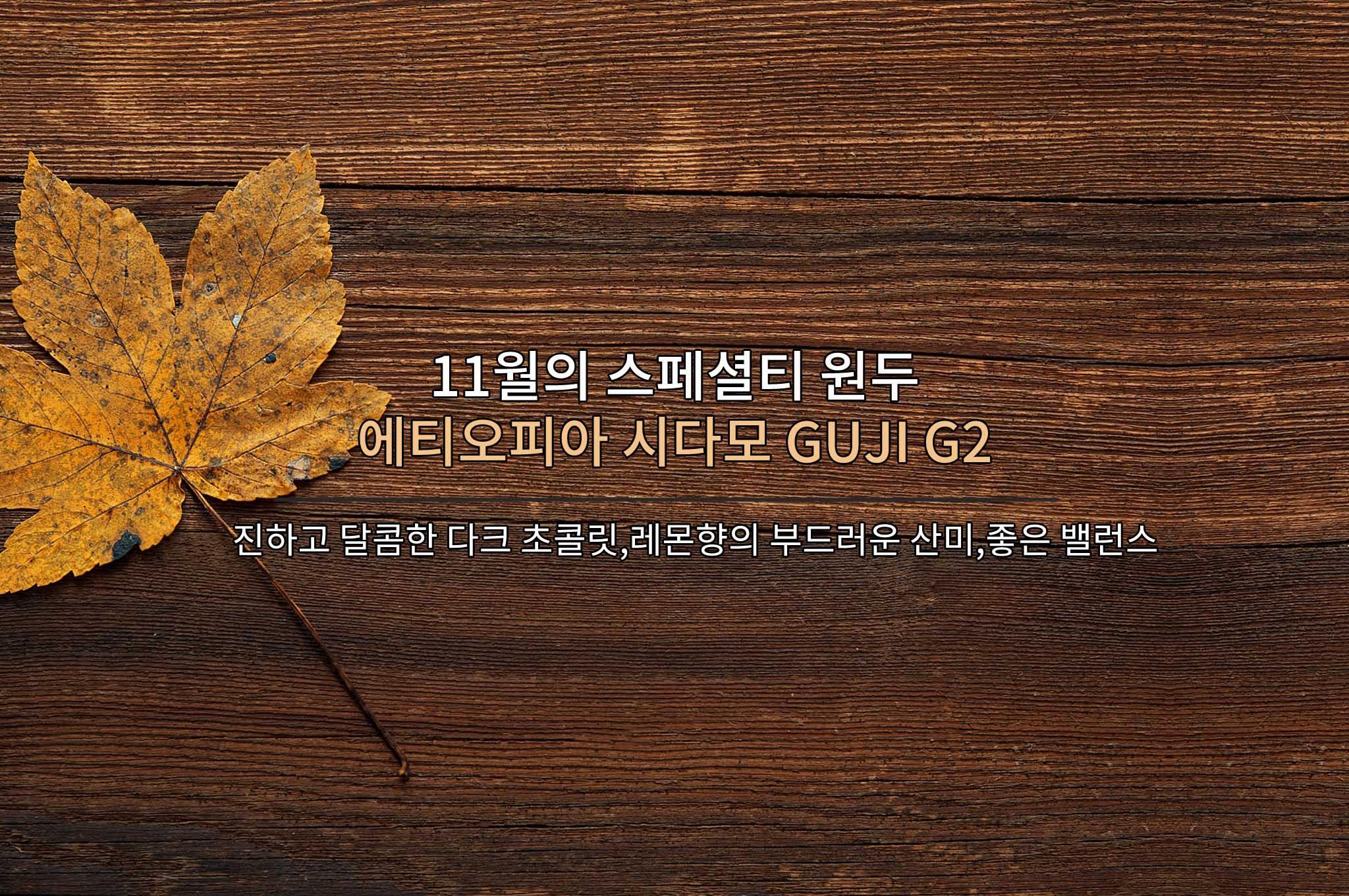 [예약판매] 에티오피아 시다모 GUJI G2